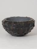 Radica Bowl flat black mother-of-pearl