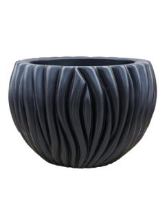 Pot & vaas Vertical wave vase matt black