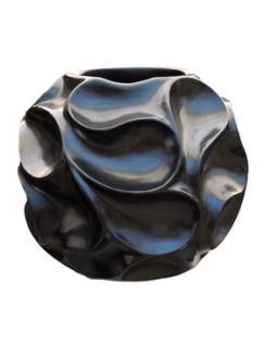 Pot & vaas Wave vase black pearl