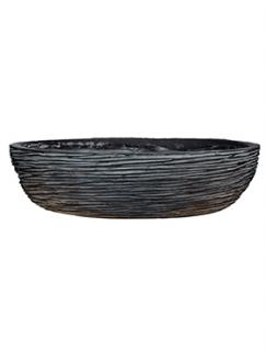 Capi Nature Bowl round rib I black
