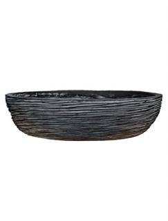 Capi Nature Bowl round rib II black