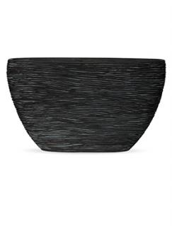 Capi Nature Planter oval rib I black