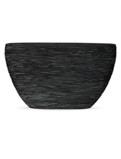 Capi Nature Planter oval rib II black