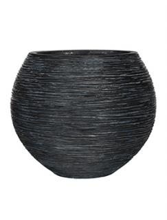 Capi Nature Vase ball rib I black