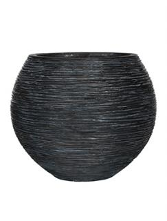 Capi Nature Vase ball rib II black
