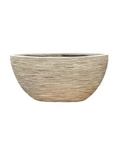 Capi Nature Planter oval rib I ivory