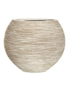 Capi Nature Vase ball rib I ivory